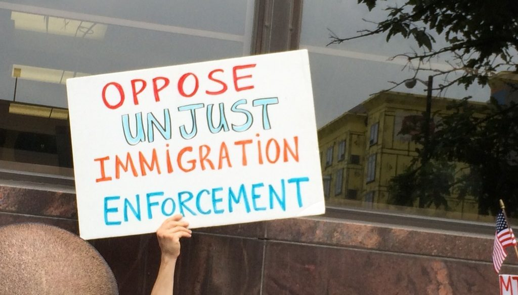 Sign Oppose Unjust Immigration Enforcement