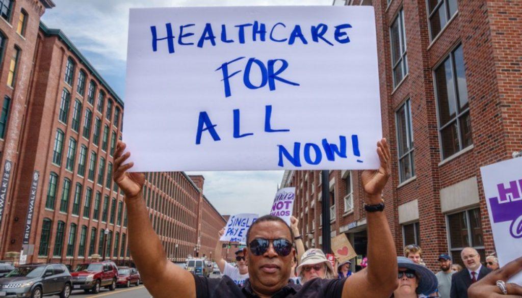 Protest healthcare Optimism