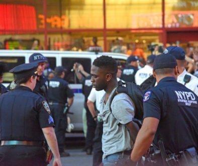 Black man arrested police racism