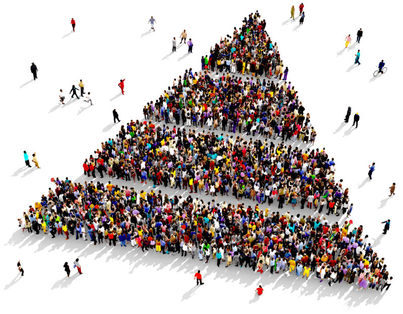 people pyramid stratification