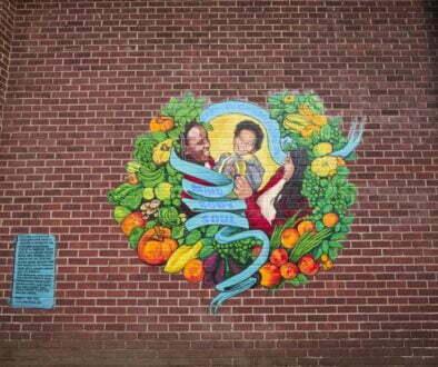 Claremont brick mural