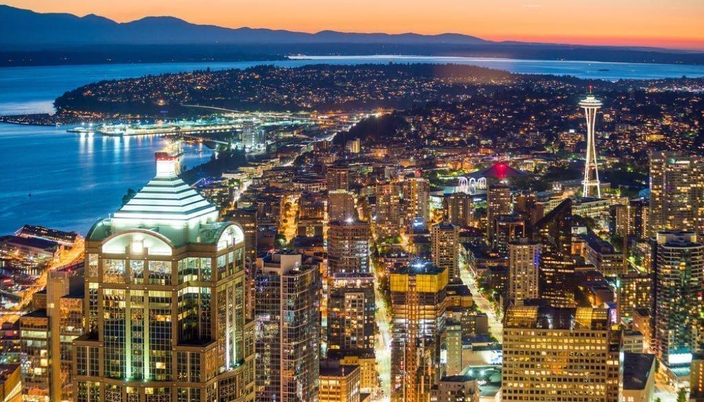 Seattle stock evening